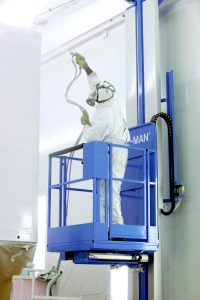 WALL-MAN pneumatic access platform