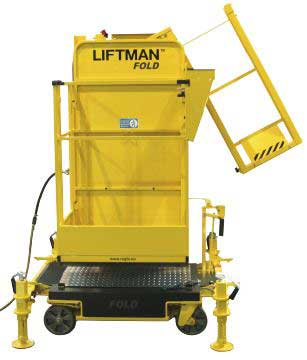 Liftman Fold pneumatic man lift for oil and gas offshore installations